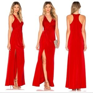 NWT! Lovers + Friends Priscilla Gown in Red
